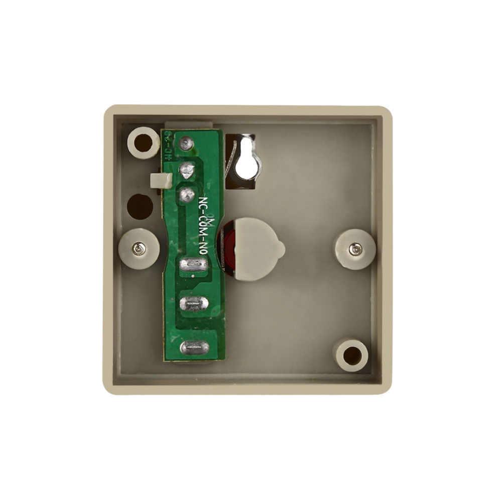 DC 24 V Kabel Aman Keamanan Plastik Keluarga Kantor Mini Darurat Alarm Panik Push Button