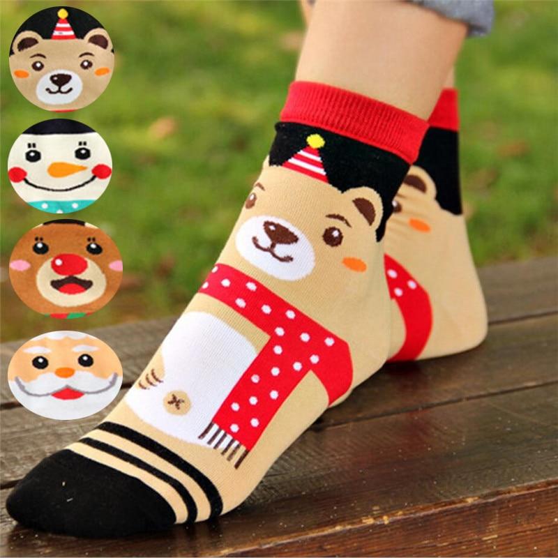 Горячая распродажа! Женские рождественские носки осень-зима модные красочные носки с мультяшным принтом женские и женские хлопковые носки ...