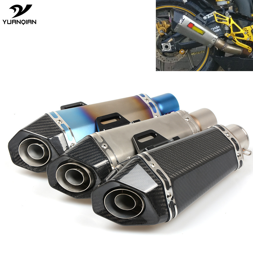 Motorcycle Scooter Exhaust Pipe Modified Exhaust Muffler Pipe For Yamaha XMAX 125 250 300 400 XV400 Fazer 600 fz6s fz6n XT660 R6