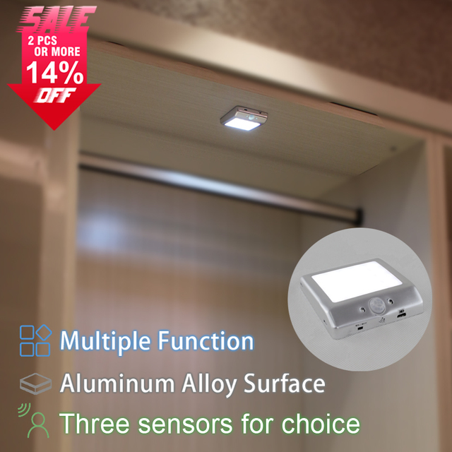 Ordinaire New Rechargeable Showcase 2W Wireless Led Wardrobe Night Lighting Battery Closet  Light Motion Sensor Portable Cabinet