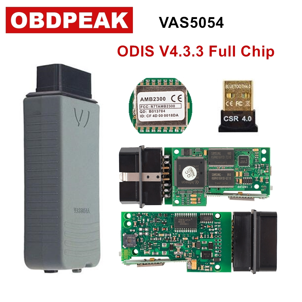 D'origine VAS 5054A ODIS V4.3.3 Complet OKI Puce OBD OBD2 Outil De Diagnostic VAS5054A ODIS 4.3.3/PC V19/3.0.3 bluetooth pour UDS Scanner