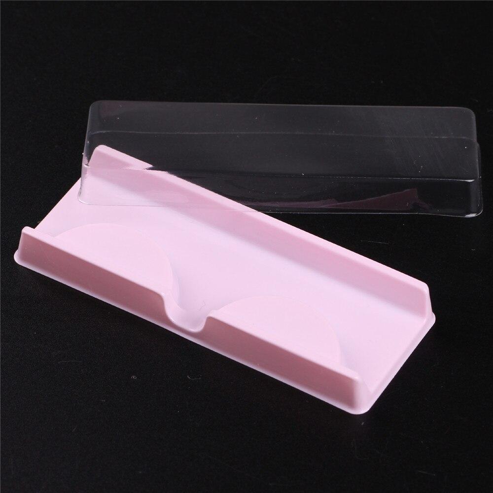 10 Sets Lashes Packing Boxes Eyelashes Packing Box Eyelashes Packaging Transparent Lid Beige Pink Trays Eye Lash Tray Clear Box