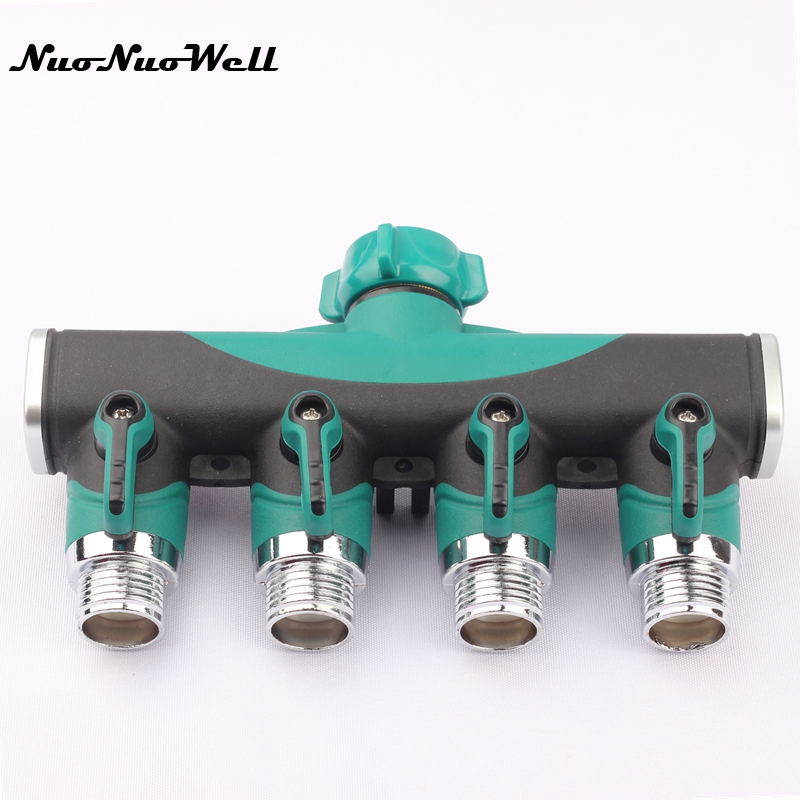 1PCS 3/4 Metal Faucet Valve Per Shunt Hose Splitters Irrigation Fittings Tap Quick Connectors Water Pipe Head Garden Supplies