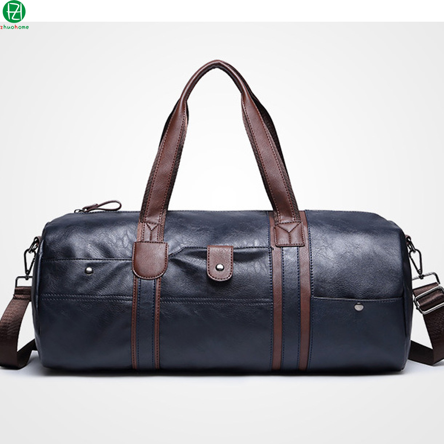 Hot Sale vintage leather men travel bag large capacity ...