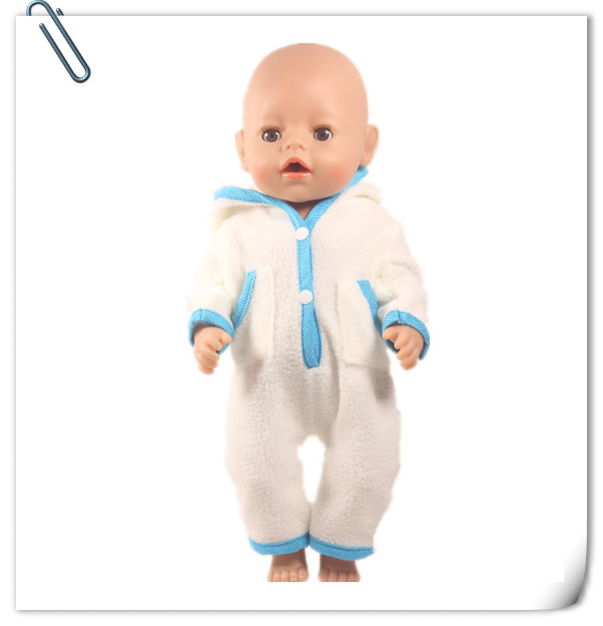 Doll Clothes Fit 43cm Baby Born Zapf Doll Colors Tights Accessories For Choosing Blue White Romper Jumpers Doll Outfits