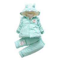 BibiCola Baby Girl Clothing Sets Winter Children Long Sleeve Clothes Bebe 2pcs Sport Warm Outfits Suit