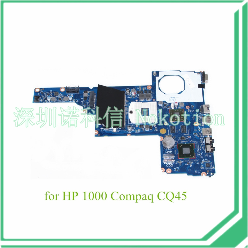 NOKOTION 685108-001 for hp 1000 Compaq CQ45 Laptop motherboard HD 6470M DDR3 694693-001 nokotion 646176 001 laptop motherboard for hp cq43 intel hm55 ati hd 6370 ddr3 mainboard full tested