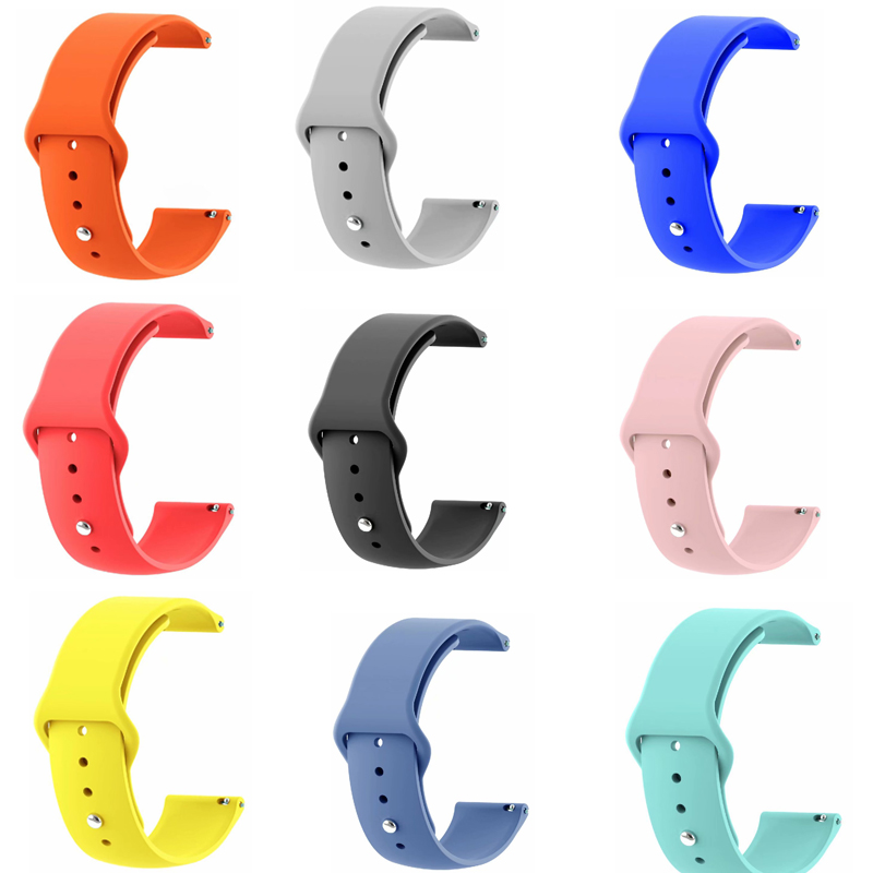 22 20 bracelet For Samsung Galaxy watch Active 46mm 42 s2 S3 live Neo Ticwatch 1 2 E pro Band Silicone <font><b>amazfit</b></font> 2s pace bip strap image