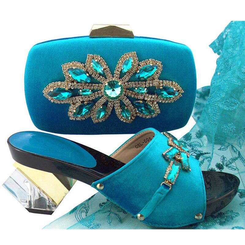 Avec or Femmes pu peach magenta Ciel Chaussures Green royal d argent Africain Italiennes Italien Assorti Blue Noir Strass Et Pompes Décoré Sac Parti Ensemble FwFzqa