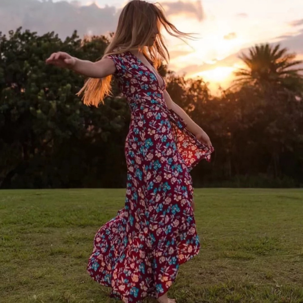 Khale Yose Summer Maxi Dress Long Floral Print Vintage Party Dress Irregular Cotton Zip Boho Chic Beach Night Dress Women Cloth