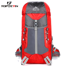 TOPTETN Backpack Men's Ultra-light nylon waterproof Unisex Nylon 36-55L High Quality travel sports fitness and camping mountaine