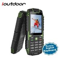 ioutdoor T1 Rugged Mobile Phone Waterproof IP68 Shockproof FM Radio 2G SIM Card Led Flashlight GSM Russian Keyboard Cellphone