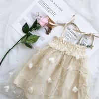 EnkeliBB Korean Baby Girls Beautiful Dresses Summer Flower Lace Dress Kids Princess Tutu Dress Suspender Sexy
