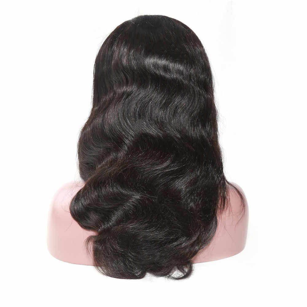 Alibd бесклеевая 360 кружевных фронтальных париков волна тела малайзийские волосы парик предварительно сорвал Человеческие волосы remy швейцарские парики на кружеве с волосами младенца