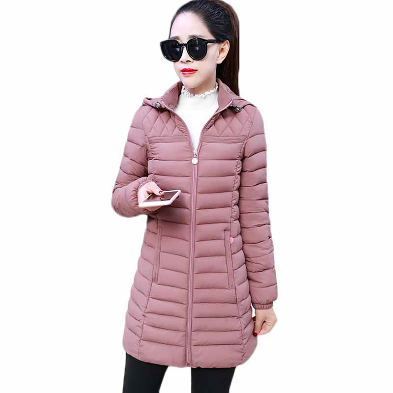 Autumn Winter Jacket Women   Parka   2019 Fashion New Thin Hooded Warm Coat Cotton Padded Jacket Plus Size Slim Ladies Outerwear 6XL