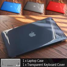 New Laptop Case For Apple MacBook Air Pro Retina 11 12 13 15 for mac book 13.3 inch with Touch Bar Sleeve Shell + Keyboard Cover(China)