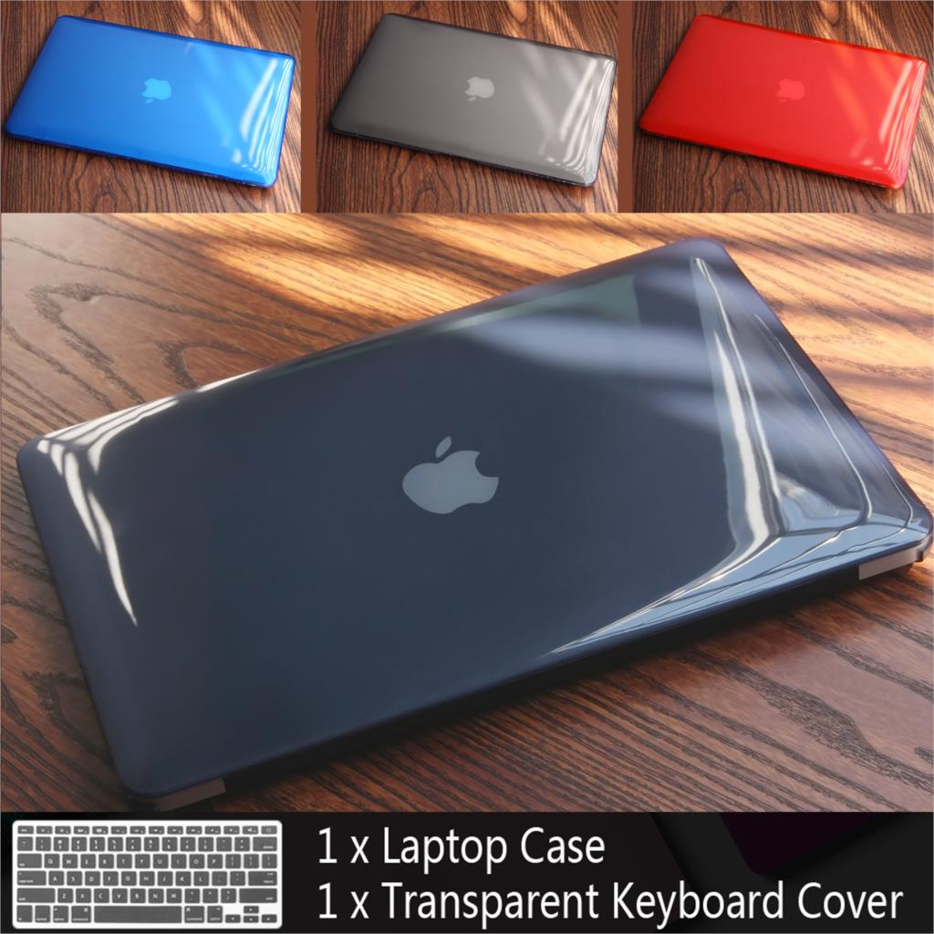 Novo Caso de Laptop Para Apple MacBook Air Pro Retina 11 12 13 15 para mac book 13.3 polegada com Toque bar Manga Shell + Tampa do Teclado