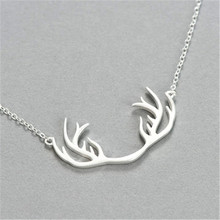 цены 925 sterling silver Pendant necklace The little deer antlers Women's fashion jewelry wholesale