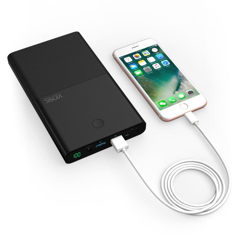 Chargeur portatif pour ordinateur Portable Vinsic 30000 mAh chargeur Portable 4.5A 19 V DC 2.4A double entrée cc pour iPhone X 8 8plus Xiaomi tablettes pour ordinateur Portable - 5