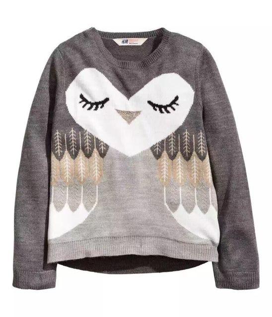 Catimini niñas ropa 2016 muchacha del resorte del otoño géneros de punto de algodón de manga larga camiseta suéter abrigo de las chicas enfant