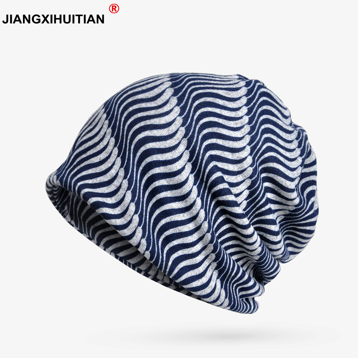 2018 NEW Spring Autumn Turban Hat Female Soft Winter Hats Women Men Cap   Skullies     Beanies   Stripe Pattern   Beanie   Gorros Bone