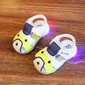 2017 verão do bebê shoes 0-2 anos de idade com flash de luz verão respirável sola macia do bebê da criança shoes menina shoes criança shoes