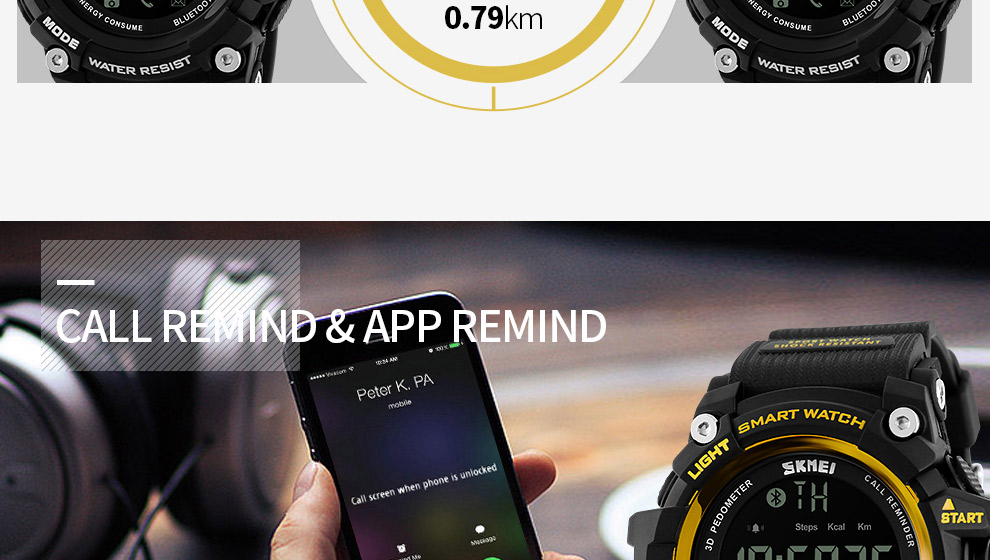 SKMEI Men Smart Watch Pedometer SKMEI Men Smart Watch Pedometer HTB1XFm5SXXXXXaqXFXXq6xXFXXX4