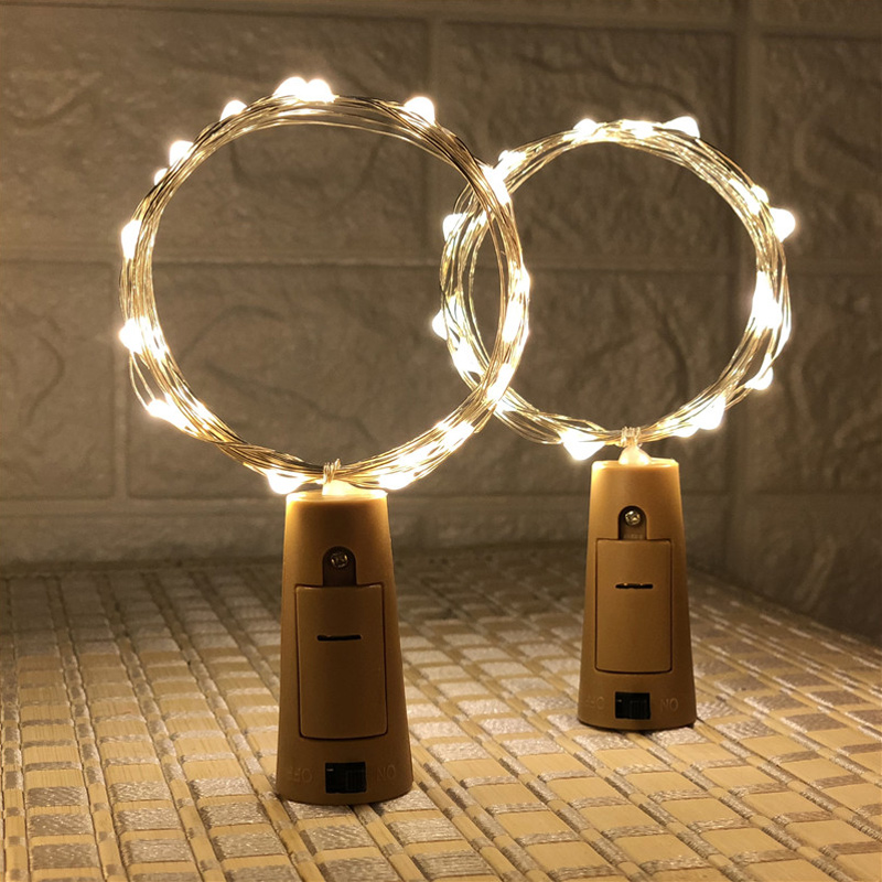 Us 1 99 10 20 Led Wine Bottles String Lights Cork Gl Stopper Fairy Decorative Christmas Garlands Holiday Party In Lighting