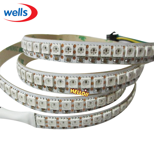 1M 144 Pixels WS2812B Dream Color LED Strip Lights 5050 RGB SMD WS2811 IC WS2812 Water Flash Lights DC5V