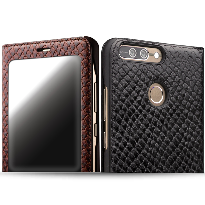 Image 4 - QIALINO Case for Huawei honor v9 Luxury Genuine Leather Ultrathin  Flip Cover for Huawei Honor V9 Sleep Wake Function Manual Bagcase for  huawei honorcase for huaweicase for