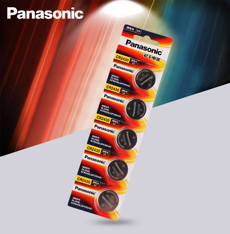 5 шт. оригинальный Panasonic CR2430 CR 2430 3V литиевая кнопка батареи для часов, часов, слуховых аппаратов