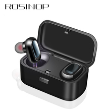 Rosinop Bluetooth Earphone i10 TWS Wireless Earphones For iphone xiaomi Earpiece Sport Earbuds auriculares bluetooth inalambrico remax c3 bluetooth earphone wireless earphones magnet earbuds with microphone stereo auriculares bluetooth earpiece for phone