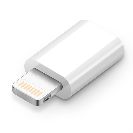 <font><b>8</b></font>-Pin Converter to Micro USB 2.0 <font><b>Adapter</b></font> For Android <font><b>iPhone</b></font> 5/5s 6/6s Plus iPad 4 Air 2 Charger Cable Connector to iOS 8pin Port image