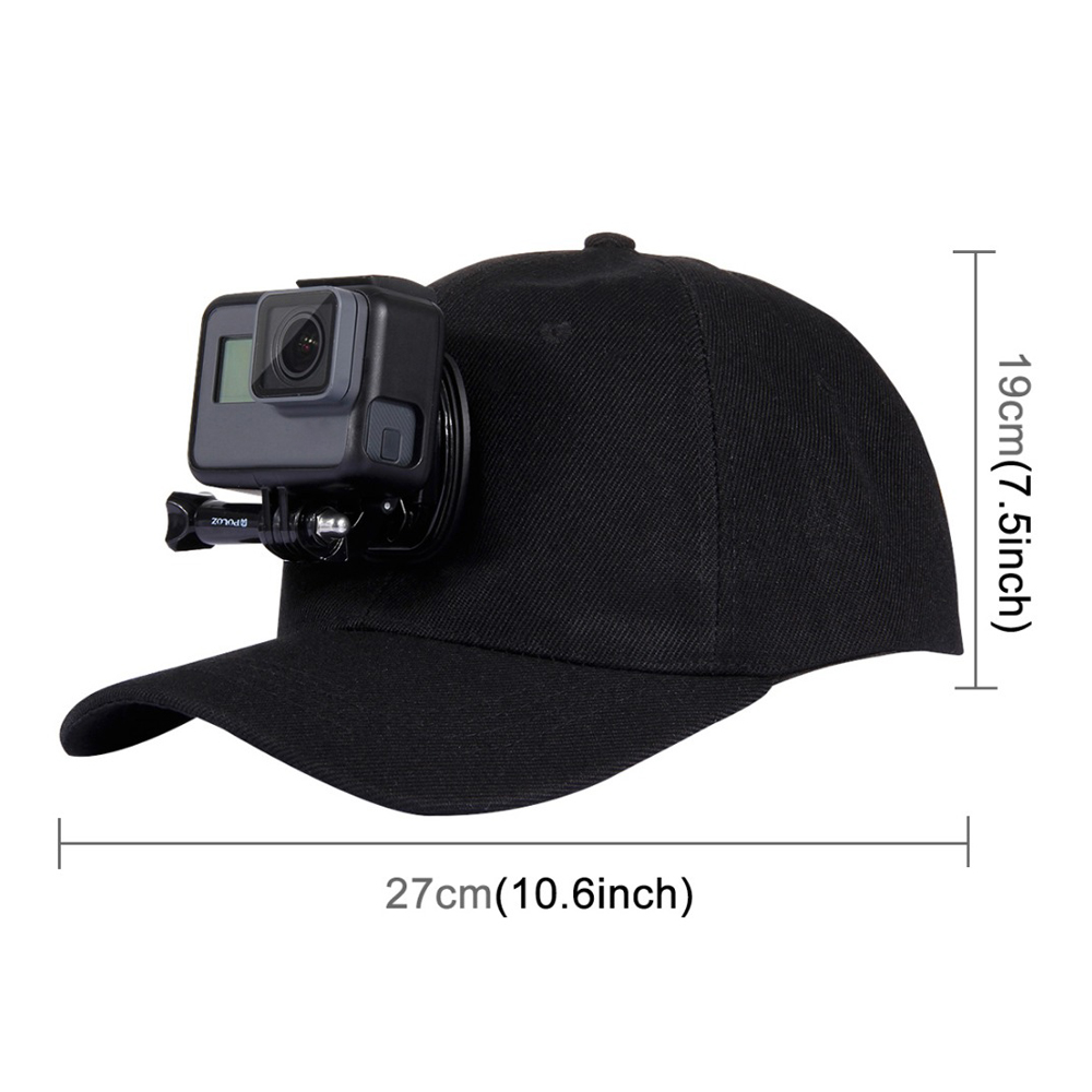 PULUZ for Go Pro Accessories Outdoor Sun Hat Topi   Baseball     Cap   W/ Holder Mount for GoPro HERO5 HERO4 Session HERO 5 4 3 2 1