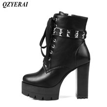 QZYERAI Autumn/winter new style lady short boot super heel female boots fashionable womens shoes leisure