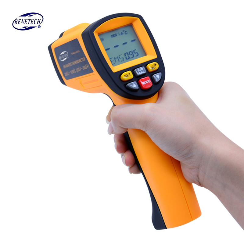 BENETECH Digital handheld gun non contact infrared thermometer laser Pyrometer professional industrial temperature gun ir portable non contact digital infrared thermometer laser pyrometer from 50 to 380 degree handheld ir temperature measurement gun