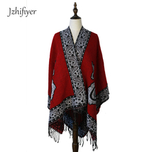 Wholesale and Retail Fashion 150*150cm Women Opened Poncho Cashmere Feel Paisley Tassel Square Cardigan Capes Coats
