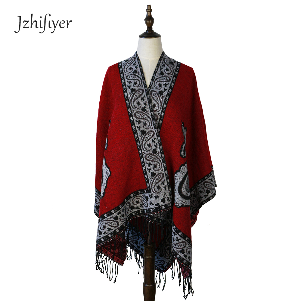 paisley poncho women open poncho capes cashmere tassel square cardigan wraps amice coat cappa shawls 150*150cm 480G tippet