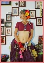 Lycra cotton Belly dance  choli short top AL03 44
