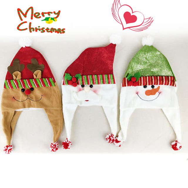 90ee04730deae Fashion Cute Cartoons Christmas Hats Thickened Hat Santa Claus Cap Family  Adult Child Xmas Party Supplies