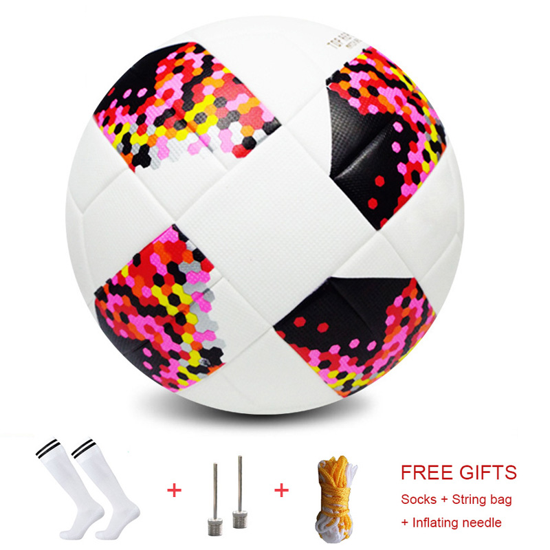 Russia Size 5 PU Soccer Premier Top Quality Football League Outdoor Goal Match Training Balls Standard Adults Sport Game Balls