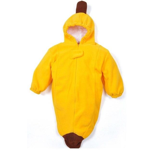 Banana design fleece newborn sleeping bag kids sleepsack winter stroller bed swaddle wrap bedding cute infant envelope