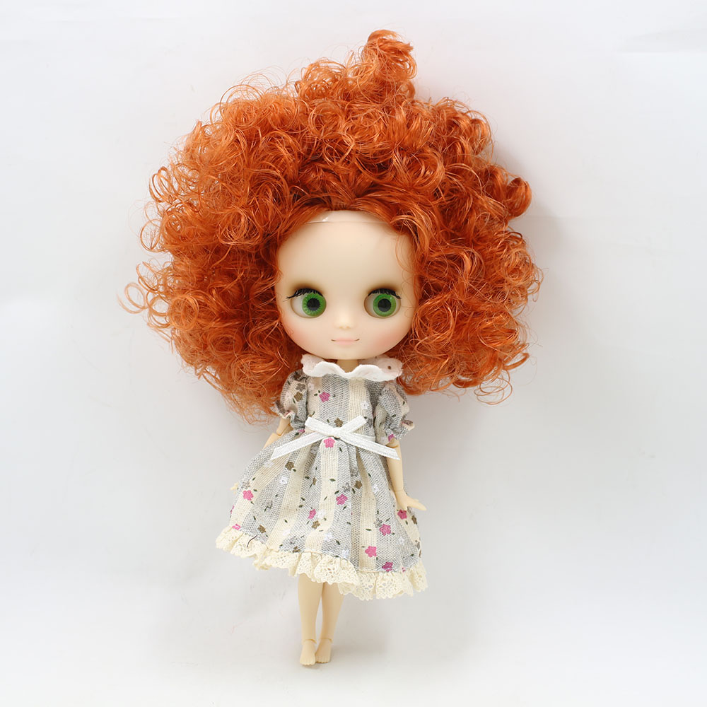 No.2231/2237 Nude middie blyth joint doll 20cm high Transparent face suitable DIY gift for girl like the icy doll middle blyth