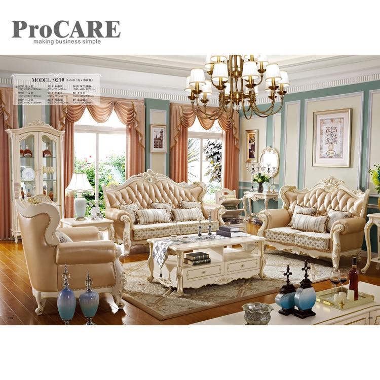 Hot Sale High Quality Leather Fabric Sofa Set Royal