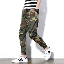 2017 Men Full Length Pants Army Green Mens Casual Trousers Easy Wash male Camouflage Casual Elasticity Pants Men's big yards