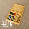 Mini toy house simulation  Scene accessories model props to play wooden handmade paint box