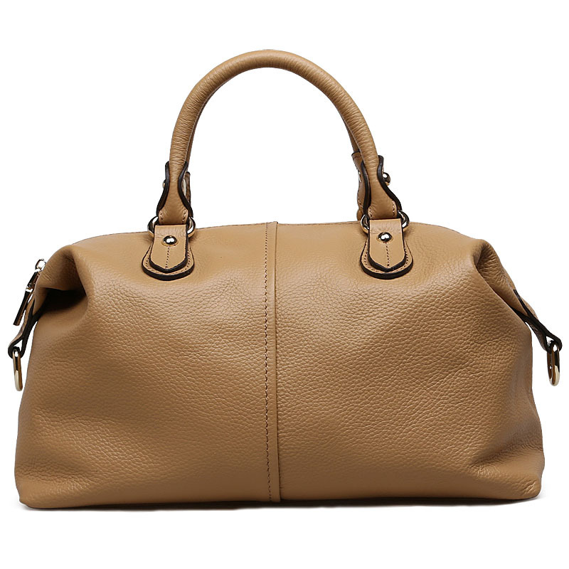2018 New Fashion Trend Genuine Leather Women Handbag Large Boston Bag Shoulder Messenger Bag Ladies Purse Top Handle Bag new fashion women message bags with small purse metal ring handle leather handbag ladies girls trendy shoulder bag balestra