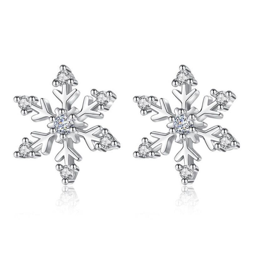 3b574c198a6e Cristal de escama de nieve Bijoux declaración pendiente para las mujeres  hombre de nieve de Color plata pendiente amante joyería de compromiso envío