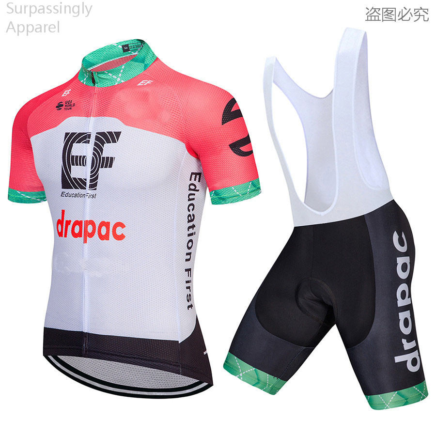 2018 MTB Cycling Clothing Cycling Set Mailot Ciclismo EF Cycling Jersey Set Bike Bicycle Jersey Ropa Ciclismo Bicycle Wear ropa ciclismo mtb ciclismo mtb 2 colors ropa ciclismo 8859