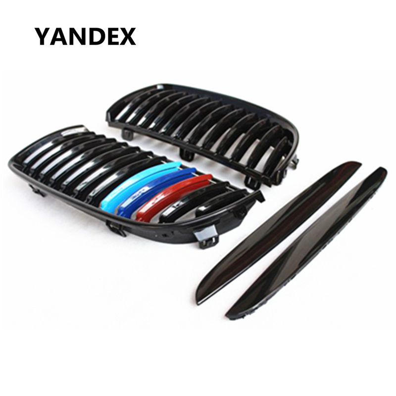 YANDEX E90 E91 Front replacement Kidney ABS Grill For BMW 3 Series 316d 320d 323i 325d 325i 328i 330i 335i for bmw 3 series e36 318 328 323 325 front coilover strut camber plate top mount green drift front domlager top upper mount